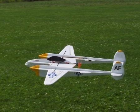 P 38 Lightning Shockflyer Schablonenplan